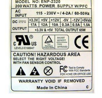 250w Atx For Enhance Enp 2320 Enp 2320a Power Supply
