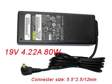 80W Power AC Charger Adapter for Fujitsu LifeBook A3110 A3120 A3130