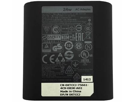 Cargador DA24NM130 para Dell Venue 7 8 10 11 Pro Tablet 24W AC Adaptador