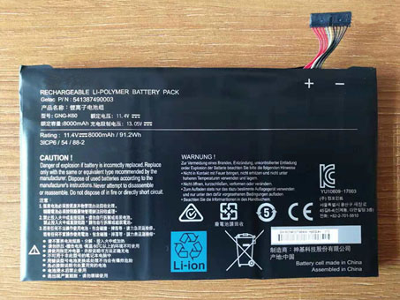 Batería para GIGABYTE GNG-K60