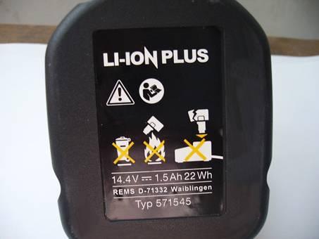 Batería para REMS 571545